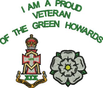 I'm Proud Green Howards embroidered polo shirt